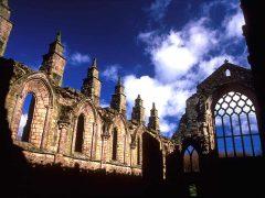 Holyrood Abbey, The Royal Mile, Edinburgh, Skottland, Storbritannia