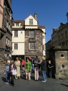 John Knox House, The Royal Mile, Edinburgh, Skottland, Storbritannia