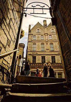 Old Town, Anchor Close, Edinburgh, Skottland, Storbritannia