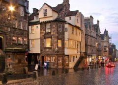 John Knox House, The Royal Mile, Old Town, Edinburgh, Skottland, Storbritannia