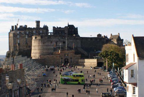 Castle, Edinburgh, Skottland, Storbritannia