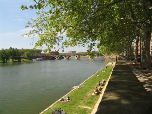 Pont Neuf, Les Quais, Toulouse, Sør-Frankrike, Frankrike