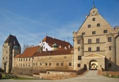Burg Trausnitz, Landshut, Bayern, Altstadt, Neustadt, barokk, Historisk, Middelalder, Markt, Sør-Tyskland, Tyskland