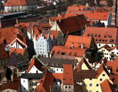 Landshut, Bayern, Altstadt, Neustadt, barokk, Historisk, Middelalder, Markt, Burg Trausnitz, Sør-Tyskland, Tyskland