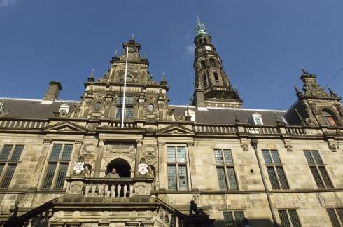 Stadhuis, rådhus, Leiden, Zuid-Holland, Sør-Nederland, Nederland