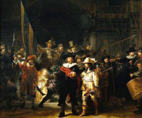 Nattevakten, Rembrandt van Rijn, Leiden, Zuid-Holland, Sør-Nederland, Nederland