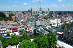 Sentrum med Hooglands Kerk, Leiden, Zuid-Holland, Sør-Nederland, Nederland