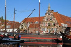 Kanalparti, Kort Galgewater, Leiden, Zuid-Holland, Sør-Nederland, Nederland
