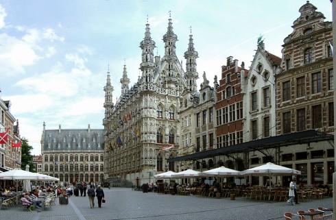Grote Markt, Leuven, Flandern, Belgia