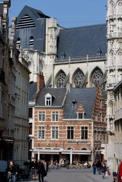 Grote Markt, Sint Pieterskerk, Leuven, Flandern, Belgia