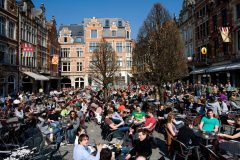 Oude Markt, Leuven, Flandern, Belgia
