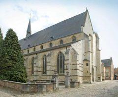 Groot Bégijnhofs St-Jan-De-Doperkerk, Leuven, Flandern, Belgia