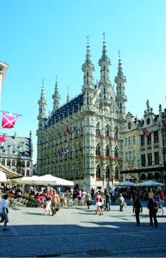 Grote Markt, Stadthuis, Leuven, Flandern, Belgia