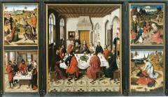 Triptychet Det siste måltid, Dirk Bouts, Sint Pieterskerk, Leuven, Flandern, Belgia