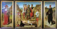 Sant Erasmus martyrdom, Dirk Bouts, Leuven, Flandern, Belgia