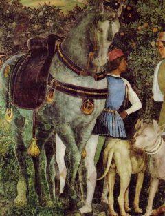 Renessansekunstneren Andrea Mantegna, Camera Sposi, Palazzo Ducale, Mantova, Lombardia, Nord-Italia, Italia