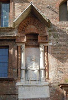 Vergil, Piazza Broletto, Mantova, Lombardia, Nord-Italia, Italia
