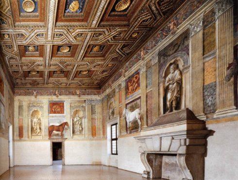 Giulio Romano, Palazzo Te, Sala dei Cavalli, Mantova, Lombardia, Nord-Italia, Italia