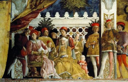 Utsnitt av Andrea Mantegnas freske