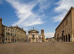 Piazza Sordello, Duomo, Palazzo Ducale, Mantova, Lombardia, Nord-Italia, Italia