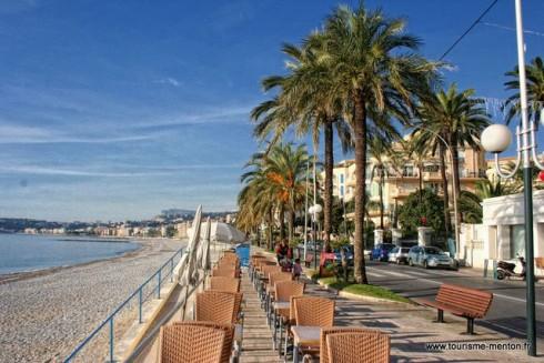 Strandpromenade, Musée de la Prehistoire, Menton, Alpes Maritimes, Provence, Cote d'Azur, Sør-Frankrike, Frankrike