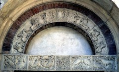 Porta della Pescheria, kong Arthur, Duomo, Modena, Emilia Romagna, Nord-Italia, Italia