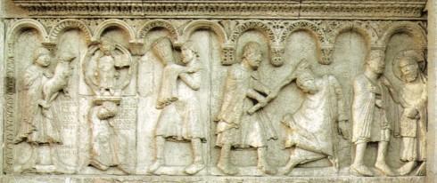Wiligelmo, Kain Abel, Duomo, Modena, Emilia Romagna, Nord-Italia, Italia