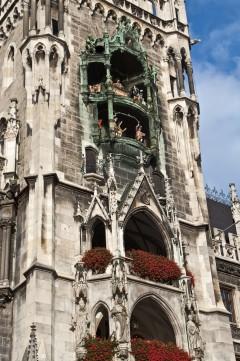 Neues Rathaus, Glockenspiel, Altstadt, München, Bayern, Sør-Tyskland, Tyskland