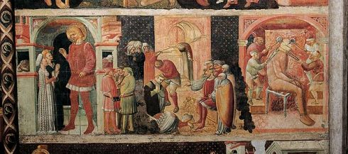 San Sebastiano-fresken, duomo, Parma, Emilia Romagna, Nord-Italia, Italia