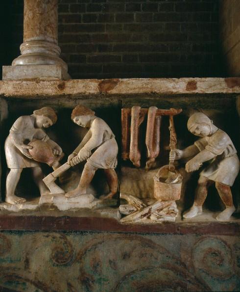Relieffer, Antelami, Battistero, Parma, Emilia Romagna, Nord-Italia, Italia