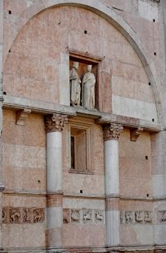 fire portalene, Battistero, Parma, Emilia Romagna, Nord-Italia, Italia