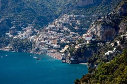Positano, Ravello, Amalfikysten, Campania, Sør-Italia, Italia