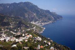 Utsikt mot Minori, Ravello, Amalfikysten, Campania, Sør-Italia, Itali
