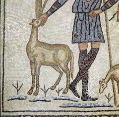 Mosaikk fra Domus dei Tappeti di Pietra, Unesco, Ravenna, Emilia-Romagna, Nord-Italia, Italia