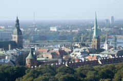 panorama, Riga, gamleby, Unesco Verdensarven, Latvia, Baltikum