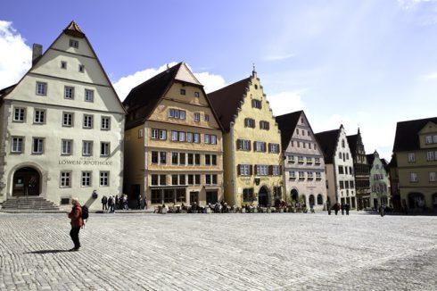 Marktplatz, Rothenburg ob der Tauber, Bayern, Sør-Tyskland, Tyskland