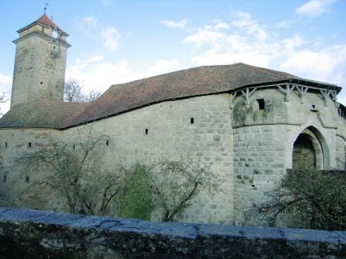 Spitalbastion, Rothenburg ob der Tauber, Bayern, Sør-Tyskland, Tyskland