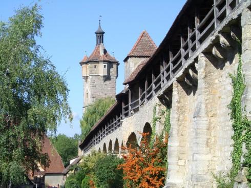 Klingentor, Rothenburg ob der Tauber, Bayern, Sør-Tyskland, Tyskland