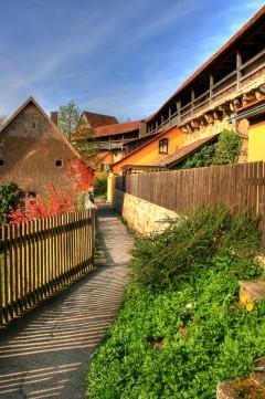 Bymuren, Rothenburg ob der Tauber, Bayern, Sør-Tyskland, Tyskland