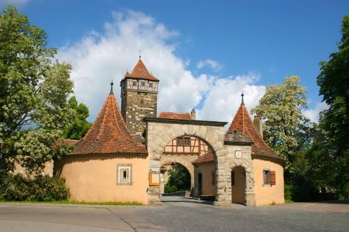Burgtor, Rothenburg ob der Tauber, Bayern, Sør-Tyskland, Tyskland
