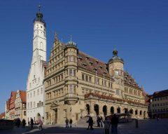 Altes Rathaus, Rothenburg ob der Tauber, Bayern, Sør-Tyskland, Tyskland