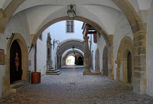 Historiengewölbe, Rathaus, Rothenburg ob der Tauber, Bayern, Sør-Tyskland, Tyskland
