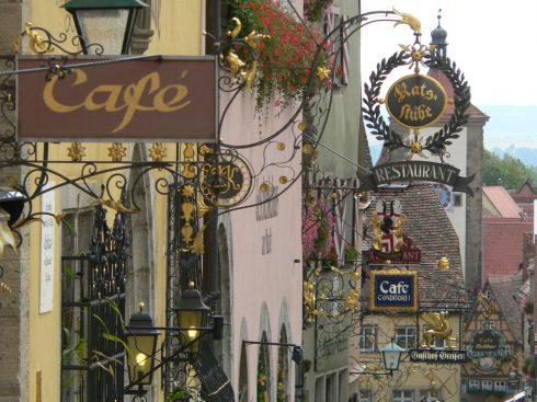 Vannhull, Rothenburg ob der Tauber, Bayern, Sør-Tyskland, Tyskland