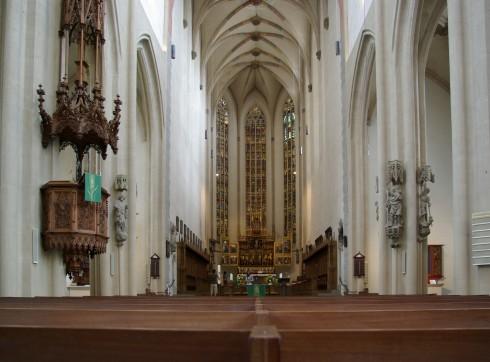 St Jacobskirche, Rothenburg ob der Tauber, Bayern, Sør-Tyskland, Tyskland