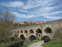 Dobbeltbrücke, Rothenburg ob der Tauber, Bayern, Sør-Tyskland, Tyskland