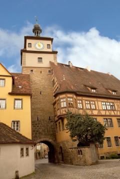 Weissturm, Rothenburg ob der Tauber, Bayern, Sør-Tyskland, Tyskland