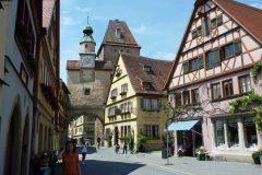 Marcusturm, Rothenburg ob der Tauber, Bayern, Sør-Tyskland, Tyskland