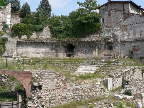 Teater Forum Romanum, Brescia, Lombardia, Nord-Italia, Italia