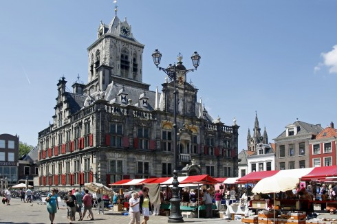 Stadhuis, Markt, Delft, Zuid-Holland, Sør-Nederland, Nederland