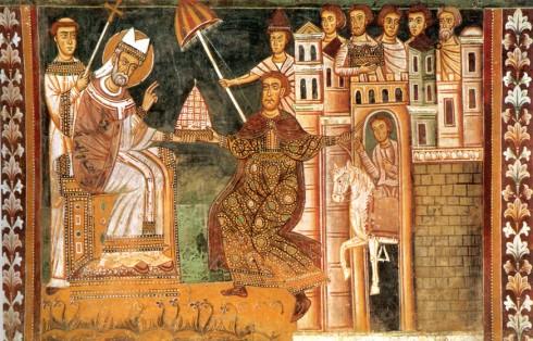 Keiser Konstantin, pave Sylvester